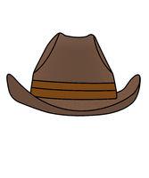 Simple drawn cowboy hat, illustration