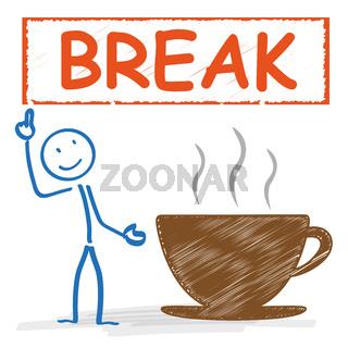 Stickman Coffeecup Break