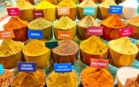 Spices of different colors