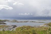 Norwegian landscape on the Atlantic road
