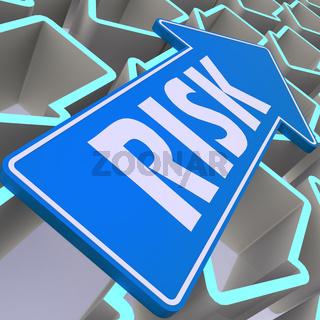 Risk blue arrow
