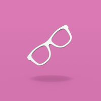 Glasses Frame Shape on Purple Background
