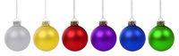 Weihnachten bunte Weihnachtskugeln Kugeln Advent isoliert freigestellt Freisteller
