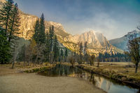 morning view of Yosemite Valley, California