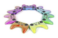 Colorful game controllers