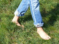 Barefoot on the meadow