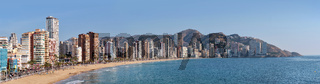 Skyline of Benidorm view . Spain