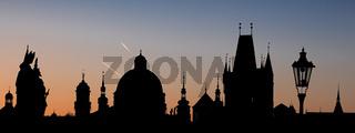 Prag - Sonnenaufgang auf der Karlsbrücke