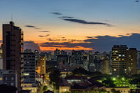 Urban view of the city of Belo Horizonte in Minas Gerais
