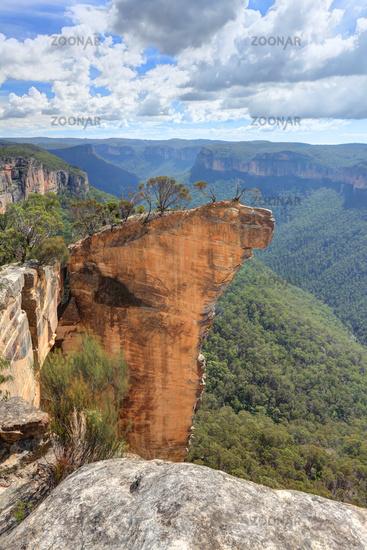 View of Hanging Rock Blue Mountains NSW Australia
