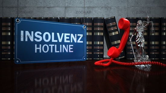 Lady Justice Statue Insolvenz Hotline