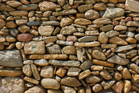 Texture of masonry of rough stones