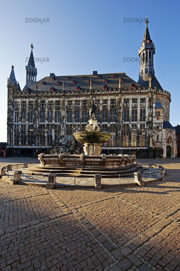 Town hall, old town, Aachen, North Rhine-Westphalia, Germany, Europe
