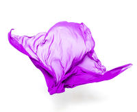 abstract purple fabric in motion