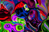 Abstract background, psychedelic pattern in neon colors of a digital glitch.