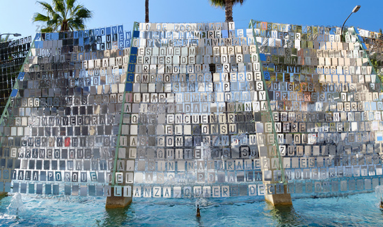 Modern installation in the Torrevieja downtown. Spain
