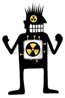 Nuclear Powered Silhouette Cartoon