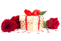 Valentine day gift and flowers