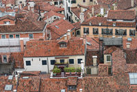 Roofs of the old town of Venice - detail