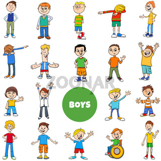 children and teen boys characters large set