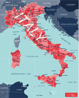 Italy country detailed editable map
