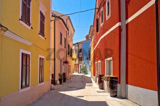 Idyllic colorful mediterranean street of Novigrad Istarski