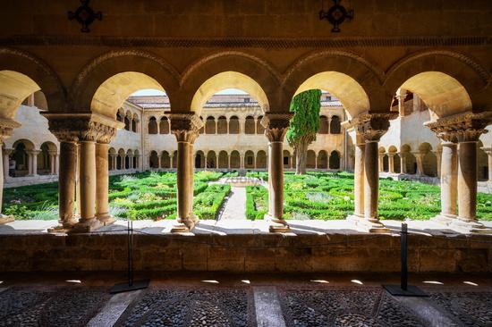 Cloister of Santo Domingo de Silos Abbey in Burgos, Castilla y Leon, Spain.