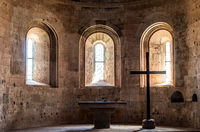 Altar of the Thonoret abbey in the Var in France