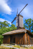 Old traditional Windmill in Stockholm, Sweden