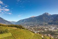 On the Marling Waalweg path above Meran, South Tyrol