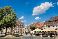 naumburg, deutschland - 18.06.2019 - marktplatz in der altstadt
