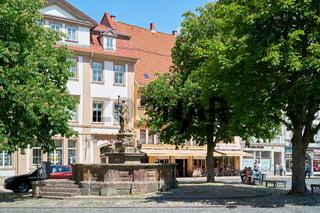 Schellenbrunnen am Hauptmarkt in Gotha