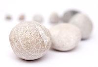 Stones on white