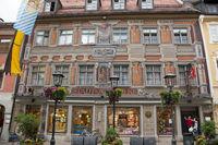 Old pharmacy, Füssen, Allgäu, Ostallgäu, Bavaria, Europe