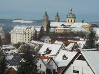 Basilica of St Martin in Weingarten (Württ.) with snow
