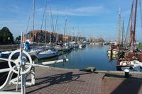 Port in Stavoren on the IJsselmeer, Netherlands