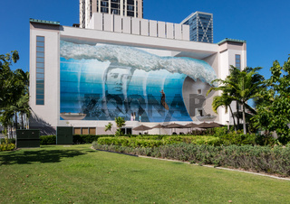 Famous mural Spirit of the Wave Hawaii
