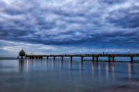Seebrücke Zingst Nachtaufnahme