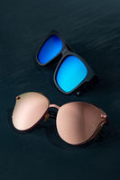 Modern accessory sun glasses for protection eyes.