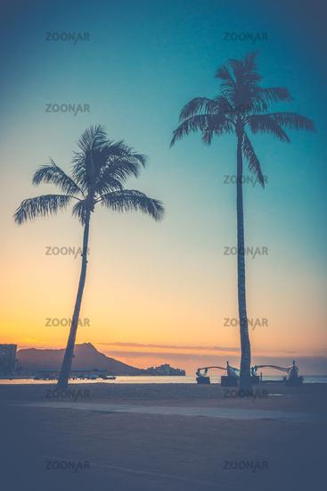 Sunrise Over Waikiki Beach