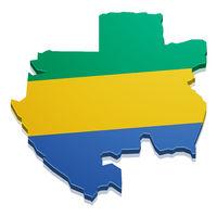 Map Gabon