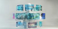 Virtual Sci Fi HUD Futuristic Concept