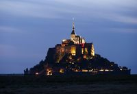 Saint Michael's Mount by night