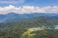 aerial landscape with famous Xiangshan Visitor Center