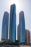 Etihad Towers buildings in Abu Dhabi, UAE