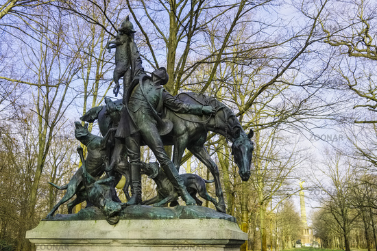 Fox Hunt, Sculpture, Grosser Tiergarten, Berlin, Germany