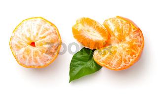 Mandarin Orange Isolated On White Background