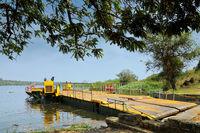 Ferry across the Nile, Murchison Falls National Park Uganda