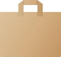 brown paper shopping bag vector illustration
