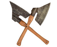 axes ax knife crossed butcher craftmanship meat